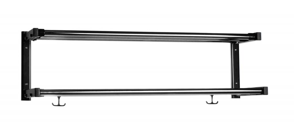 EX526 Kapphylla med 2 hattplan svart/krom